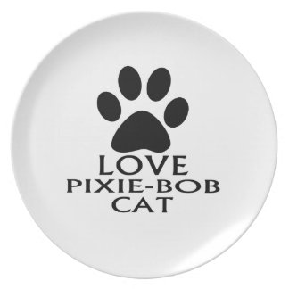LOVE PIXIE-BOB CAT DESIGNS PLATE