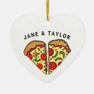 Love Pizza Personalized Ceramic Ornament