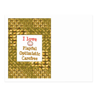 LOVE Playful OPTIMISTIC Carefree LOWPRICE Gifts Postcard
