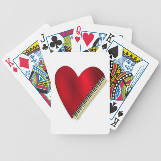 Love Playing Piano Bicycle Playing Cards