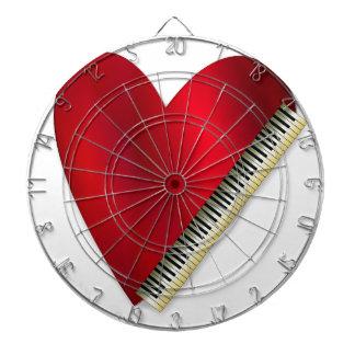Love Playing Piano Dartboard