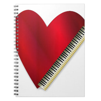 Love Playing Piano Spiral Note Book