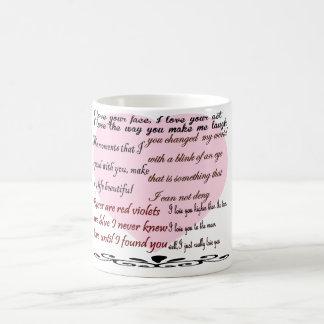 love poems,love poetry basic white mug