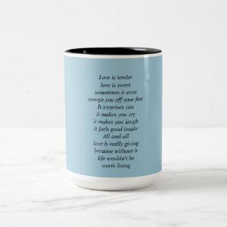 Love poetry mug