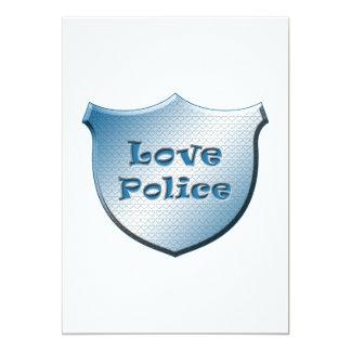 Love Police 13 Cm X 18 Cm Invitation Card
