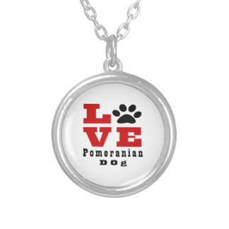 Love Pomeranian Dog Designes Silver Plated Necklace