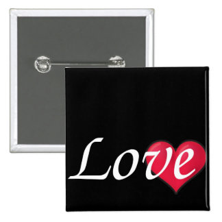 Love Postage Stamp 15 Cm Square Badge