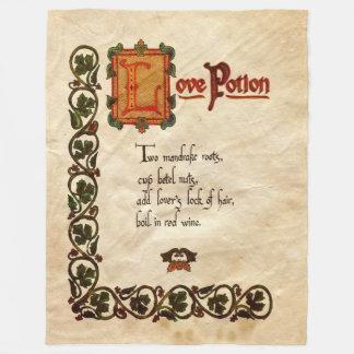 Love Potion Fleece Blanket