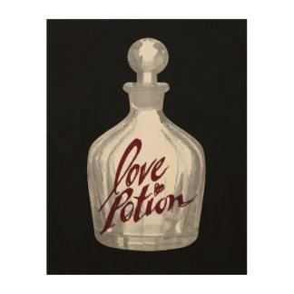 Love Potion - Halloween Art Crimson Wood Canvas