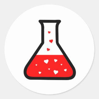 Love Potion (Science) Round Sticker