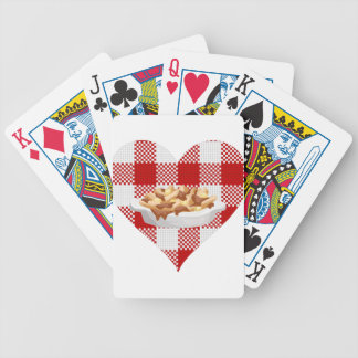 love poutine bicycle playing cards