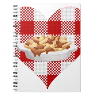 love poutine spiral notebook