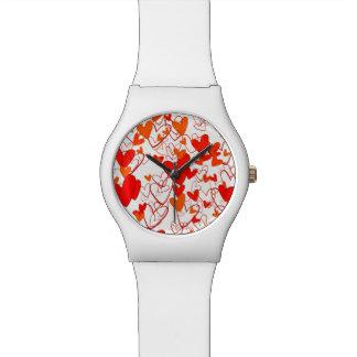 Love Powerful Stylish Heart Pattern Vibrant Chic Watch