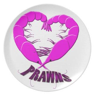 love prawns dinner plates