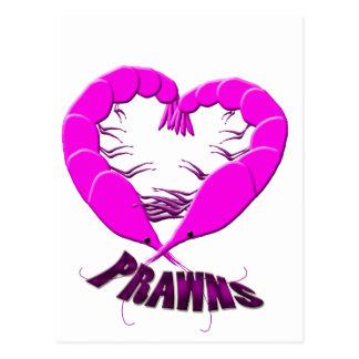 love prawns postcard