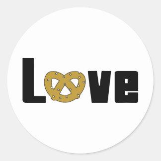 Love Pretzels Round Sticker
