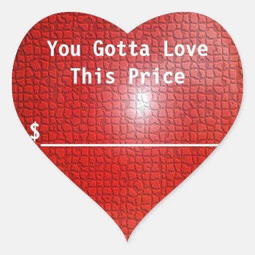 Love Price Sticker