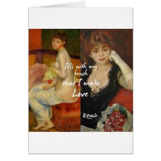 Love principal source in Renoir's masterpieces Card