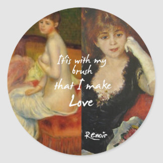 Love principal source in Renoir's masterpieces Classic Round Sticker