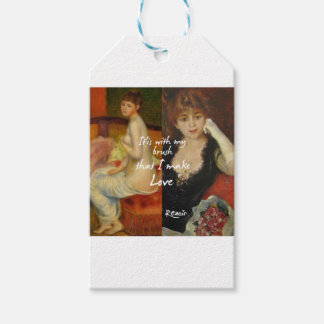 Love principal source in Renoir's masterpieces Gift Tags