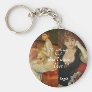 Love principal source in Renoir's masterpieces Key Ring