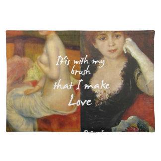 Love principal source in Renoir's masterpieces Placemat