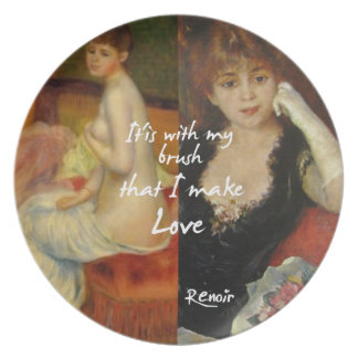 Love principal source in Renoir's masterpieces Plate