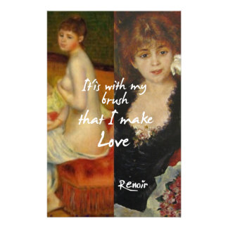 Love principal source in Renoir's masterpieces Stationery