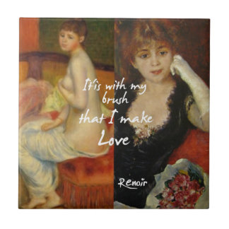 Love principal source in Renoir's masterpieces Tile
