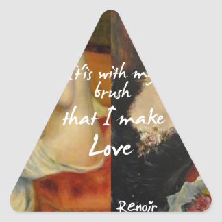 Love principal source in Renoir's masterpieces Triangle Sticker