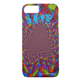 LOVE psychedelic iphone case
