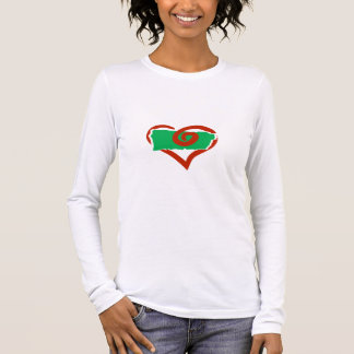 Love Puerto Rico Lady Fitted Long Sleeve Long Sleeve T-Shirt