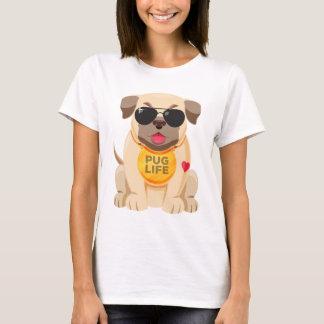 Love Pug Puppy Dog Cartoon Ladies T-Shirt