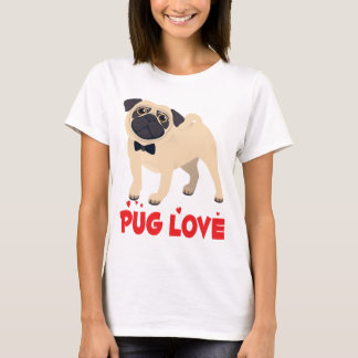 Love Pug Puppy Dog Cartoon T-Shirt