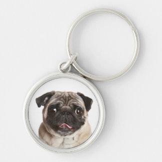 Love Pug Puppy Dog Keychain