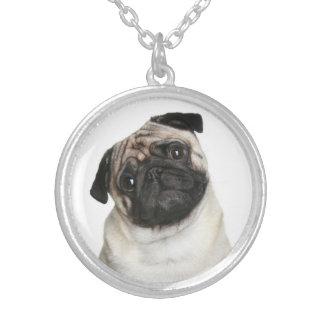 Love Pug Puppy Dog Pendant Necklace