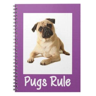 Love Pug Puppy Dog Purple Notebook / Journal