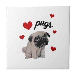 Love pugs tile