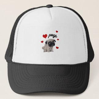 Love pugs trucker hat