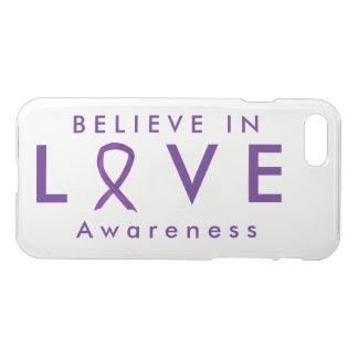 Love Purple Awareness Ribbon iPhone 7 Case