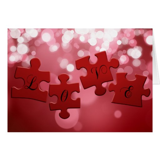 Love Puzzle - Greeting Card
