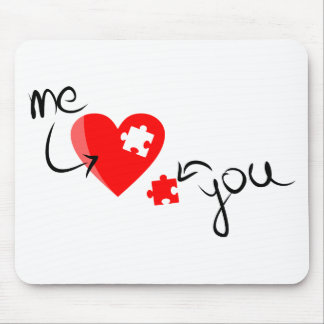 Love puzzle mouse pad