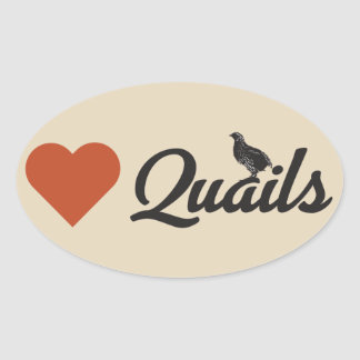 Love Quails Stickers