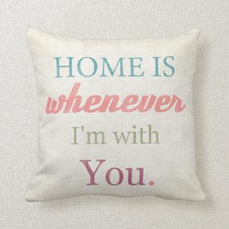 Love quote art Typohraphy print pillow