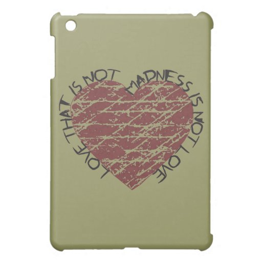 Love Quote Distressed Heart iPad Mini Case