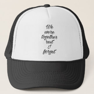 Love quote trucker hat