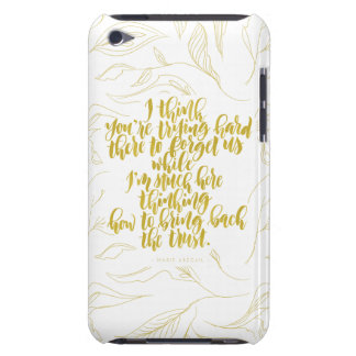 Love Quotes: Trying Hard There To Forget Us Barely There iPod Cover