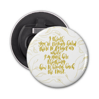 Love Quotes: Trying Hard There To Forget Us Bottle Opener