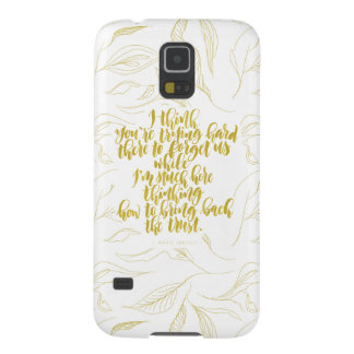 Love Quotes: Trying Hard There To Forget Us Case For Galaxy S5