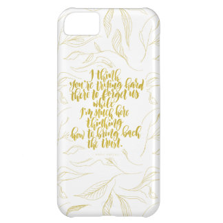 Love Quotes: Trying Hard There To Forget Us iPhone 5C Case